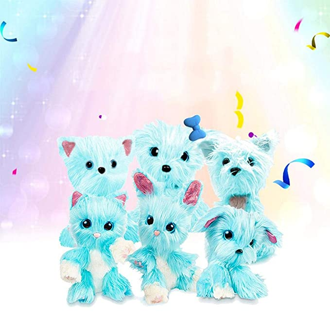 AOLVO Plush Mystery Rescue Pet, Cute Puppy Puppy Toys For Baby Toddlers Kids, Best Birthday, Shower, Festival Gift (tamaño Aleatorio/Azul): Amazon.es: ...