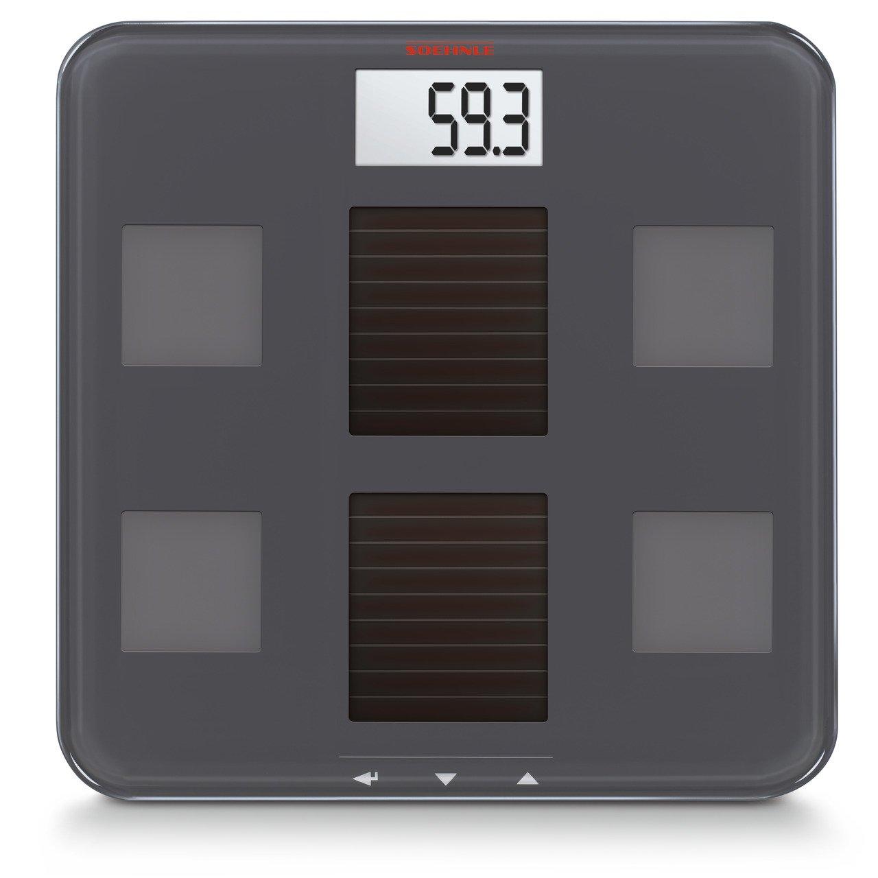 Soehnle 63342 - Báscula digital con análisis corporal y función solar: Amazon.es: Salud y cuidado personal