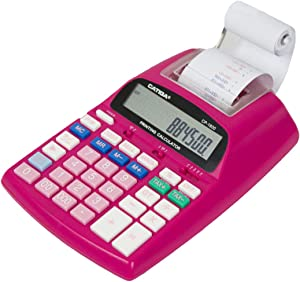 Catiga 12-Digit Desktop Regular Calculator with Printing Function, Two Color,2.03 Lines/sec, with AC Adapter, CP-1800 for Home/Office