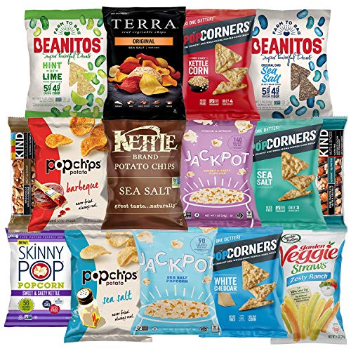 Premium NON GMO & Gluten Free Gourmet Healthy Snacks Gift Box Care Package Variety Pack (15 Count) by Variety Fun (Snacks Non Gluten Gmo Free)