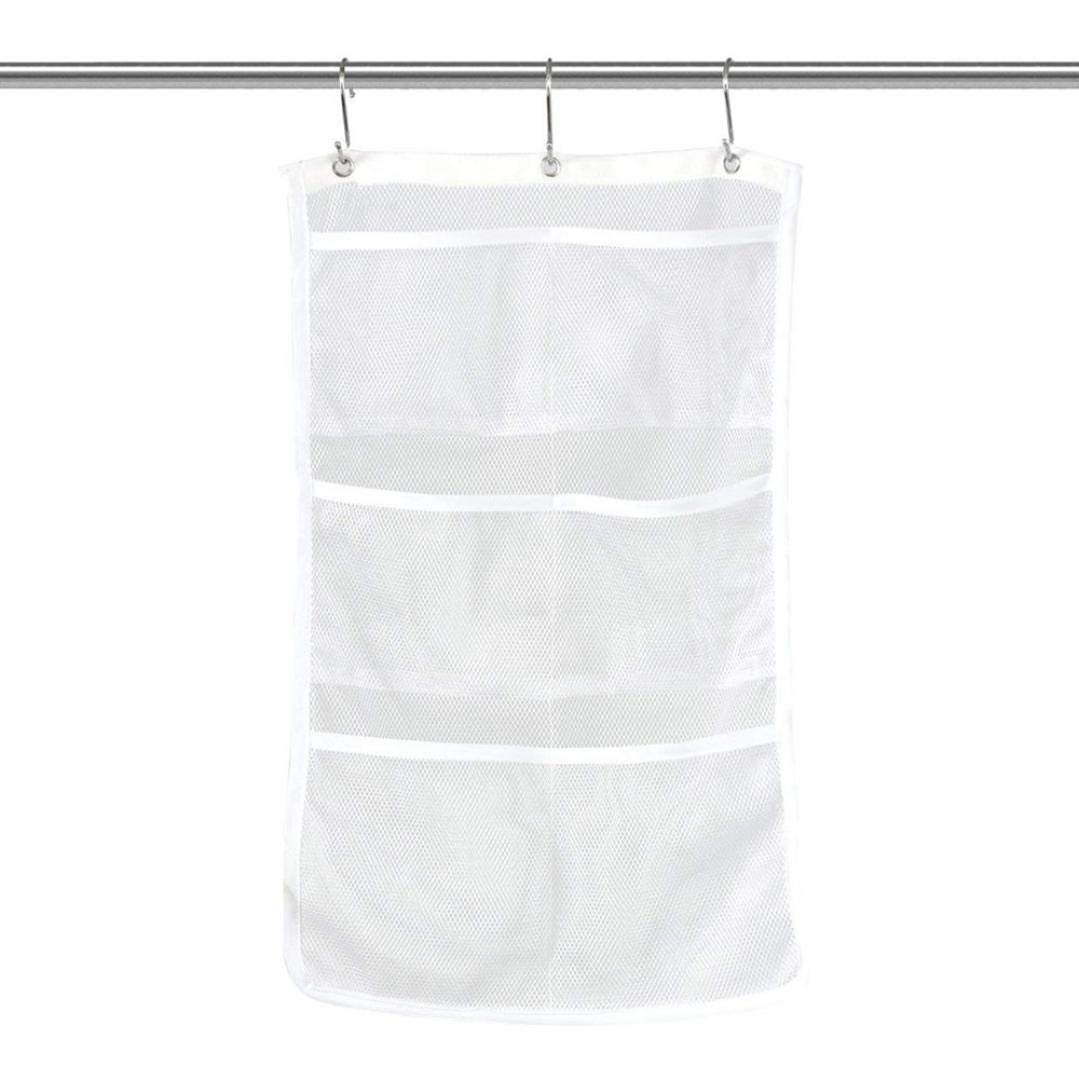 LiPing Bathroom Tub Shower Bath Hanging Mesh Organizer Toiletries Shower Gel Practical Type Non-Trace Stick Wall Bathroom Accessories Decorations (24.8×14in) by LiPing (Image #2)