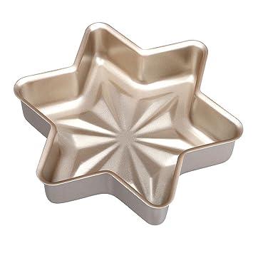 zomup cocina, copo de nieve herramientas molde para hornear pan pan pan molde repostería antiadherente Cake Mold: Amazon.es: Hogar