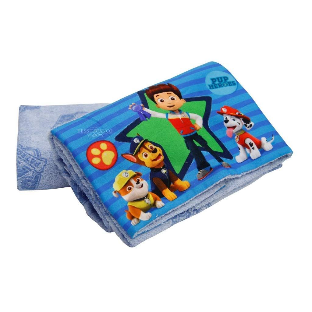 Gabel Paw Patrol Set dos toallas, 100% algodón, azul claro: Amazon.es: Hogar