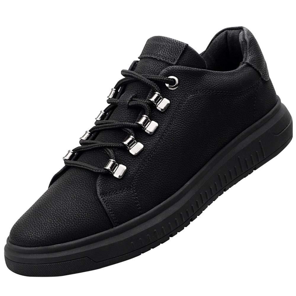 Herren Freizeitschuhe Trend Mit Lederschuhe Und Samt Warm Derby Schuhe (Farbe   1, Größe   39EU)