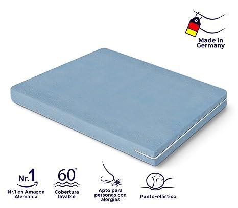 Colchón de Espuma Poliuretano, Certificado Oeko-Tex®, Funda Lavable, Todas Las