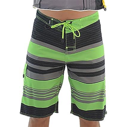 47d55d4a26da2 Body Beach Men s Board Shorts PWC Jetski Ride   Race Apparel Black Green (28
