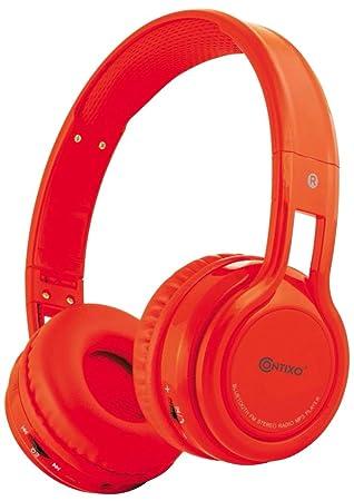 Contixo KB2600 85db Auriculares Inalámbricos Bluetooth Micrófono incorporado para ninos, Reproductor de música con tarjeta Micro SD, Radio FM estéreo: ...