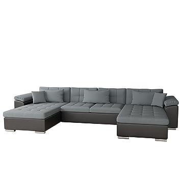 Mirjan24 Ecksofa Wicenza Bris! Elegante Big Sofa mit Schlaffunktion ...