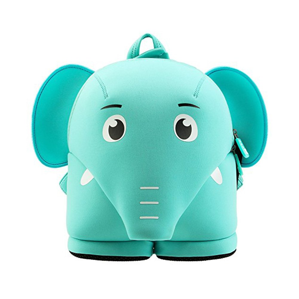 Alnaue Harness Leash Kids backpack Cute 3D Animal toddler Backpack Children Shcool Bag (Elephant-Blue)