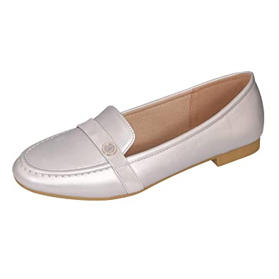 d5aae4314141f CINAK Loafers Flats for Women- Comfortable Casual Walking Slip On Round Toe  Ladies Shoes