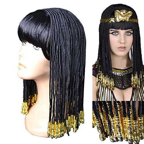 Xcoser Beautiful Cosplay Cleopatra Wig with Golden Headwears for Film (Cleopatra Headpieces)