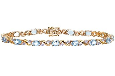 tennis bangles gold white prong index bangle diamond bracelet half blue bead