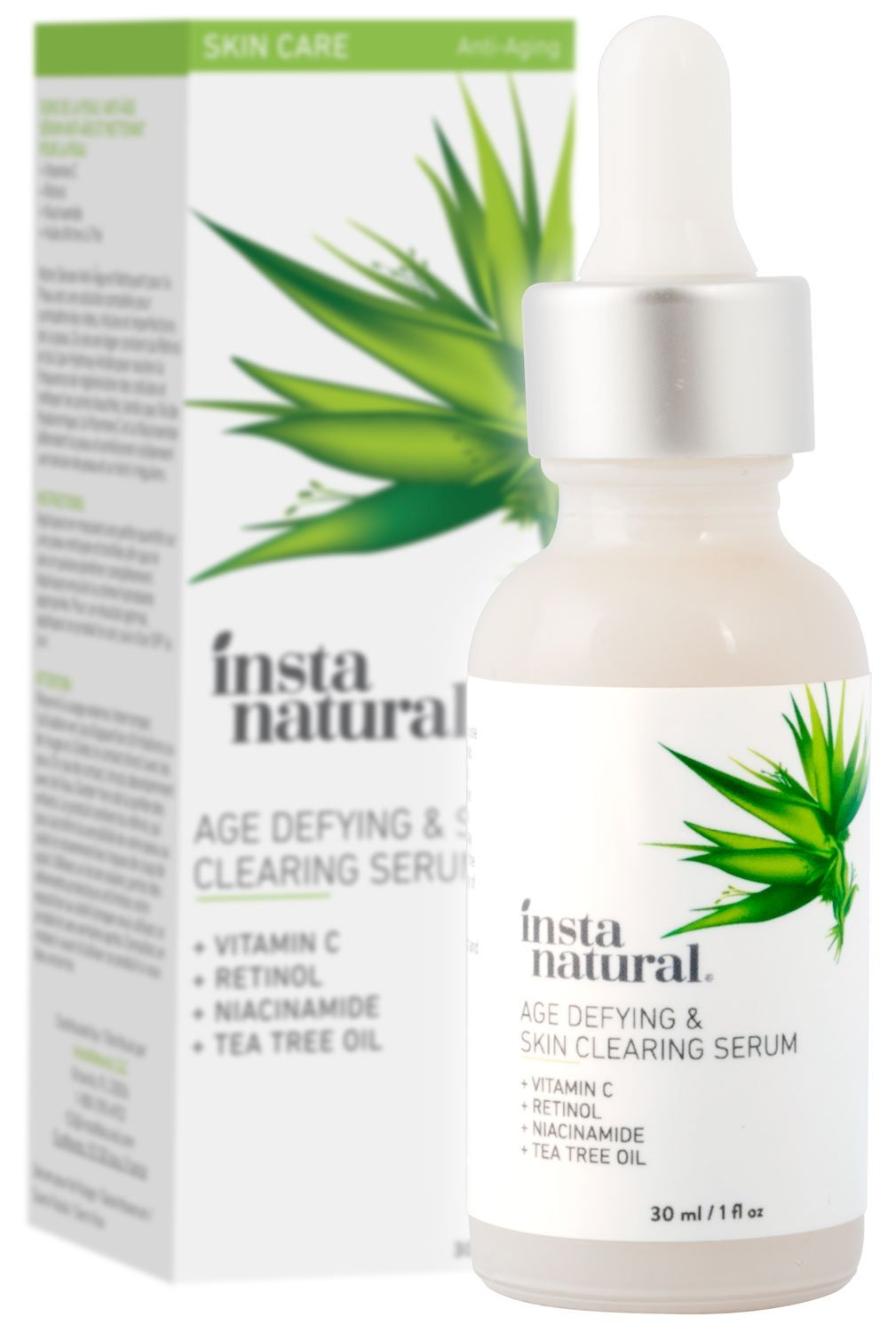 InstaNatural Vitamin C Skin Clearing Serum - Anti Aging Formula with Retinol & Salicylic Acid - Natural & Organic Wrinkle, Acne, Dark Spot, Fine Line & Hyperpigmentation Defying Facial Product - 1 OZ by InstaNatural (Image #6)