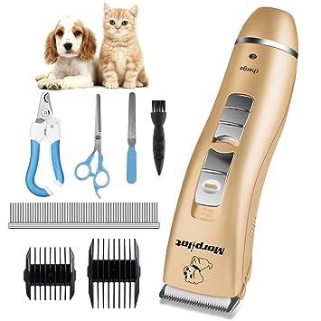 morpilot Cortapelos Profesional para Perros y Gatos con 140 Minutos de Trabajo, Cortapelo Electrónico Mascotas