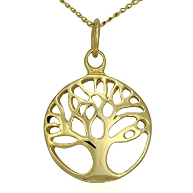 Sterling Silver Tree of Life Pendant Necklace With 18