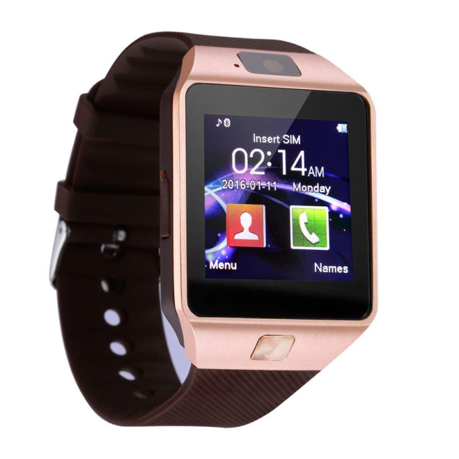 The Smart Watch Sweatproof with HD LCD Touchscreen, GV18 A+ Smart Watch for Mobile Phones (Silver)