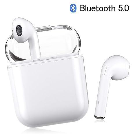 Auriculares Bluetooth inalámbricos Transparentes I8X, Mini audífonos Bluetooth en el oído para teléfonos Inteligentes iPhone