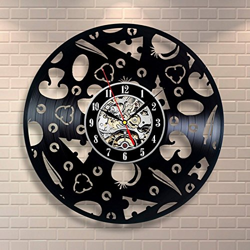 Jedfild The lovely art wall clock exposed food