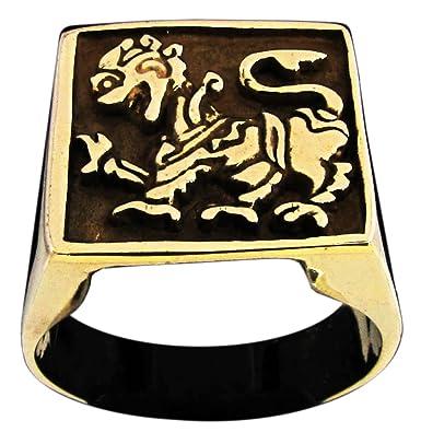 singhalese León anillo Singha Leo en bronce (tamaño H a Z + ...