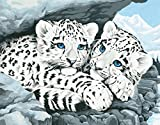 Dimensions Medium Traditional Designs Snow Leopard Cubs