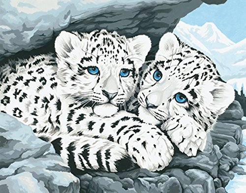 Dimensions Medium Traditional Designs Snow Leopard Cubs