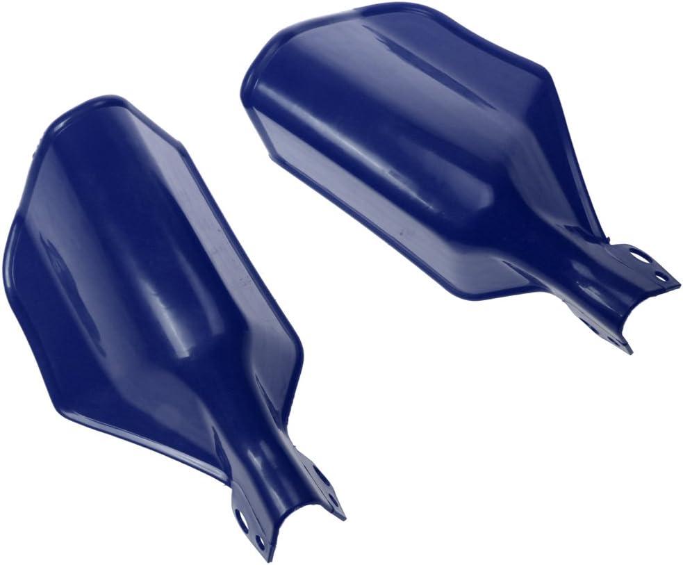 Almencla 2x Guardamanos Ajustable para Moto Universal Protectores para Motocicleta para ATV Azul