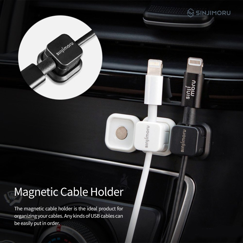 Amazon.com: Magnetic Cable clip, SINJIMORU Cable holder with Magnet, Multi  purpose Cable Organizer for iPhone Lightning Cable and Micro USB Cable for  Cable ...