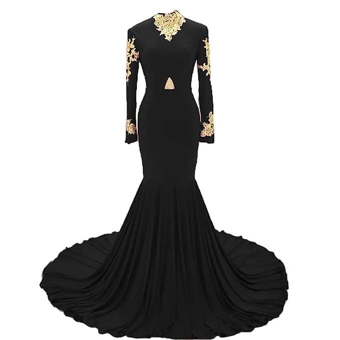 d8fd0ac0e8d53 Fair Lady Gold Lace High Neck Prom Dresses 2018 Dark Red Mermaid ...