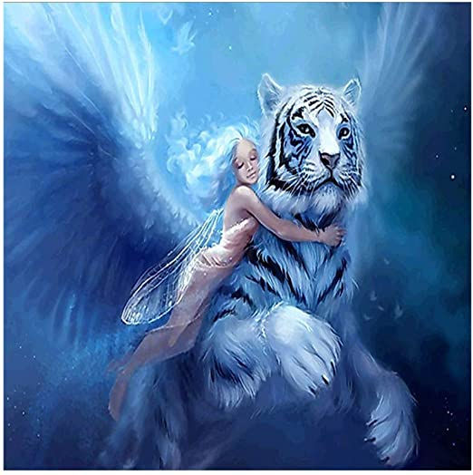 5D DIY Diamond Painting Partial Drill Embroidery Kits Colorful Tiger Art Decor