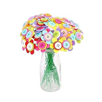 TOYMYTOY Ramo de Flores de Botón Flores Hechas a Mano Juguetes Educativos (Girasol)