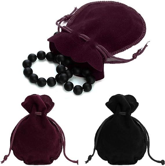 bolsa de embalaje para festivales Bolsitas de terciopelo para joyer/ía regalo con forma de calabaza granate