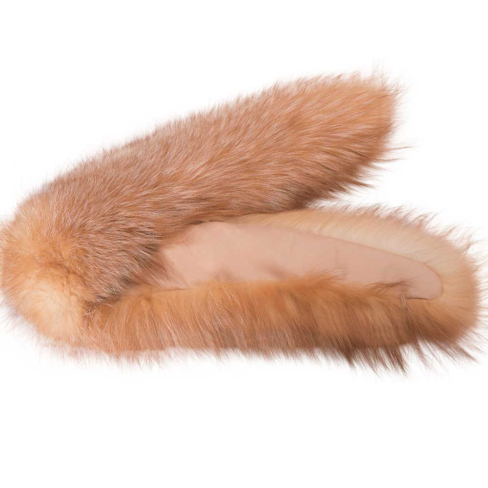 MONICA REA Women's Extral Larger Fox Fur Collar Shawl Scraf Perfect For Winter Coat by MONICA REA (Image #3)