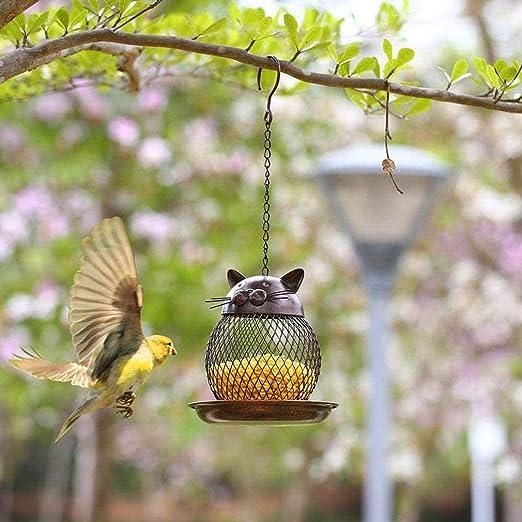 SummarLee Metálica Alimentación De Aves, Comederos De Aves Suspendidas, La Alimentación De Aves Dispensador 360, Adecuado para Prado Jardín Al Aire Libre: Amazon.es: Jardín
