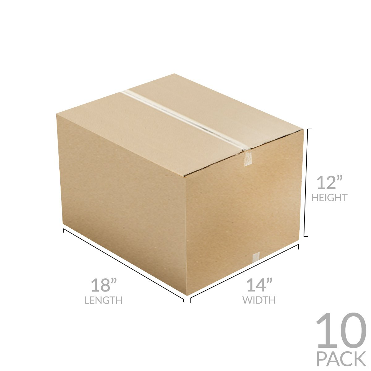 uBoxes Medium Moving Boxes, 18 x 14 x 12 inch, 10 Pack, Cardboard Box (BOXMINIMED10) by Uboxes (Image #4)