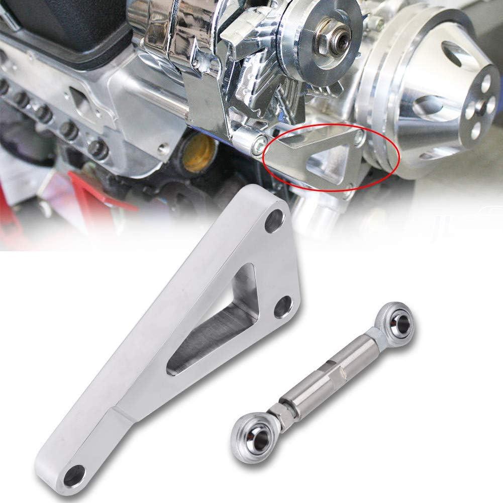 Kit de support alternateur en aluminium poli pour pompe /à eau Chevy SBC 350