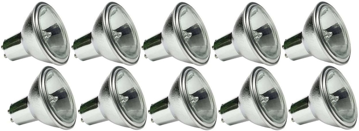 GE 30899 50MR16/Q/38/TL TAL422/C 12V 50W 38 Degree 3500 Hour GU7 Halogen - 10 Pack by GE Lighting