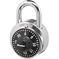 Master Lock 1500DAU 48mm Dial Combination Padlock, Black