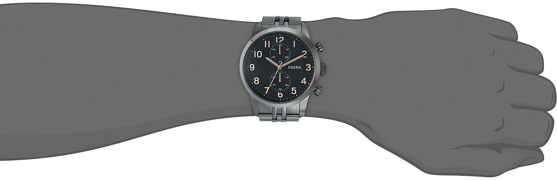 Fossil Men s FS4934 Townsman Gunmetal-Tone Stainless Steel Watch