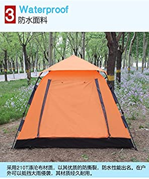 ZHUDJ Unobstructed Tour, Fully Automatic Tent, Outdoor 3-4, 6 Free Hydraulic f40de9618b93