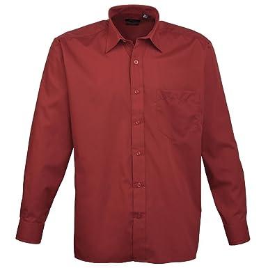 Premier Herren Business Gastfreundschaft barwear Lange Ärmel Popeline Shirt:  Amazon.de: Bekleidung
