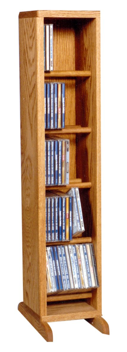 Wood Shed The 506 C Solid Oak CD Cabinet, Clear