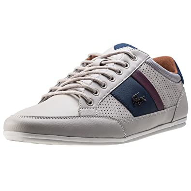 20a17f0c7 Lacoste Chaymon 317 Mens Trainers Off White Navy - 6 UK  Amazon.co ...