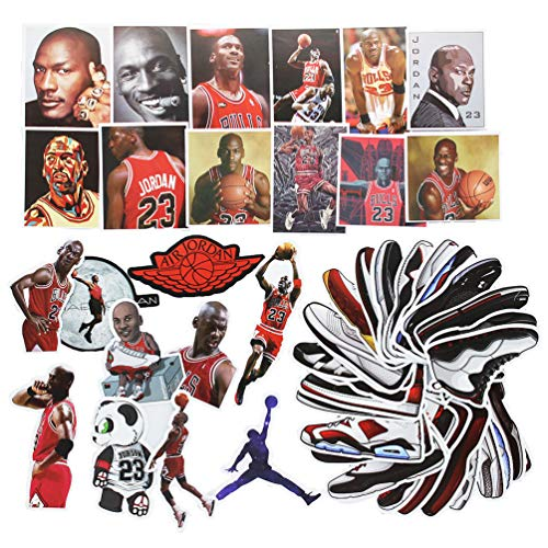 NBA Basketball Laptop Stickers Cool Vinyl Waterproof Sport Jordan Shoe AJ Sticker Skateboard Pad MacBook Car Snowboard Bicycle Luggage Decal 50pcs -