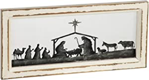 Cypress Home Beautiful Nativity Scene Hand Painted Screen Wood Frame Wall Décor - 9 x 2 x 20 Inches Indoor/Outdoor Decoration for Homes, Yards and Gardens