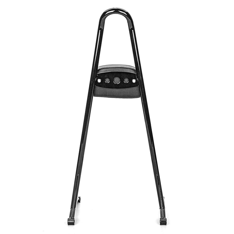 WeiSen Gloss Black 20 Inch Tall Passenger Backrest Sissy Bar Detachable Fit 2006-2017 Harley Dyna FXDF FXDL FXDB FXDC FLD