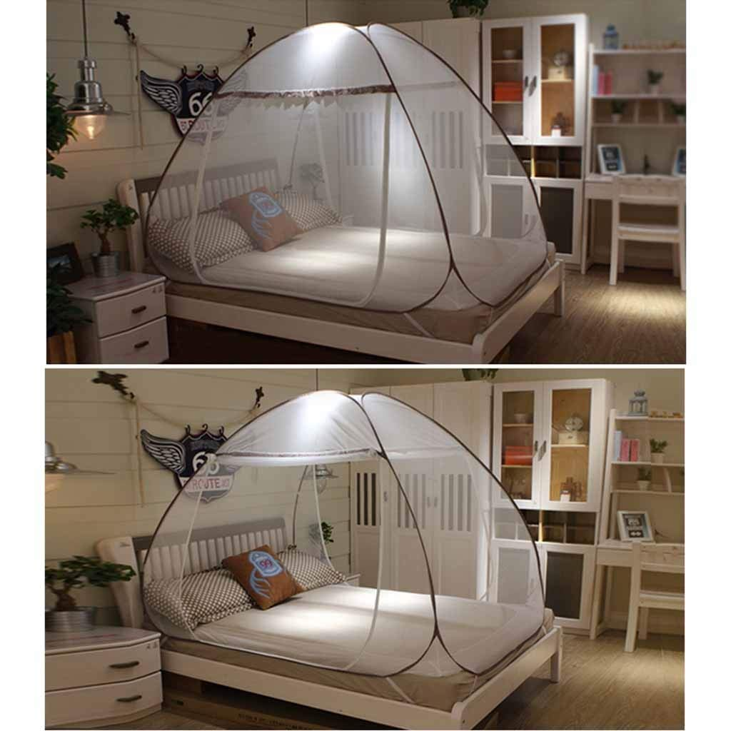 Mosquito Net Portable Foldable for Bed Travel, Polyester Tent No Assembly Required, Over Size Insect Netting for Baby Toddlers Kids Adult (Size : 1.5m (5 feet) Bed) by Mosquito Net (Image #3)