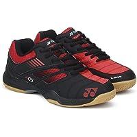 Yonex Junior Non Marking Badminton Shoes, Black/Red