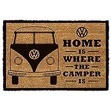 Cars Door Mat Floor Mat - Volkswagen, VW Home Is Where The Camper Is (24 x 16 inches)
