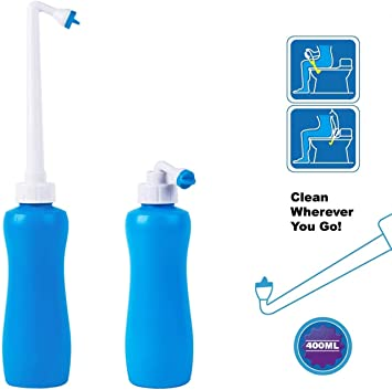 Portable Bidet Sprayer Ichanton Travel Bidet With Hand Held Bidet Bottle For Personal Cleansing Use Extended Nozzle Toilet Bidet Shower With Travel Bag 14 Oz 400ml Amazon Com