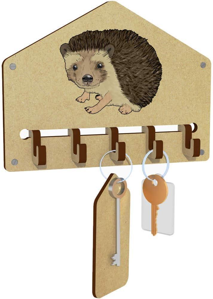Azeeda Hedgehog Wall Mounted Key Hooks Holder WH00041973